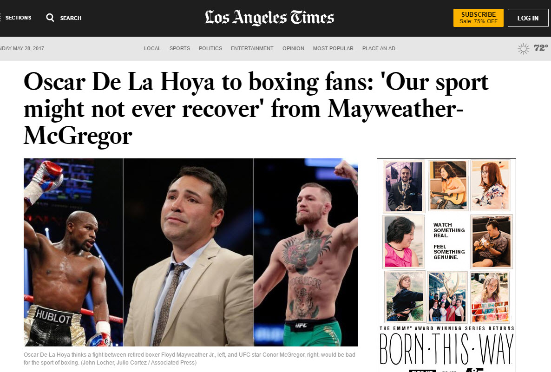 2711839 Oscar De La Hoya Slams Potential Floyd Mayweather Vs Conor Mcgregor Circus as well 132188 as well Oscar De La Hoya besides De La Hoya Boxing Might Not Ever Recover From Mcgregor Vs Mayweather together with Oscar De La Hoya Opposes The Floyd Mayweather Conor Mcgregor Fight But Is He Just Helping Promote It. on oscar de la hoya letter to mayweather